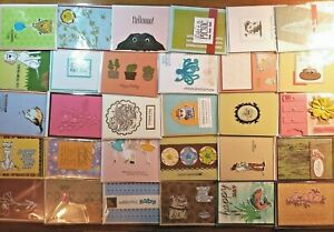 Lot of 30 Handmade Cards Lot - mixed occasions- funny, birthday, masculine, baby