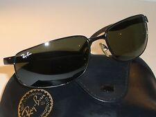 RAY BAN RB3254 61-16mm G15 UV SLEEK SPORT BLACK METAL FRAMES WRAP SUNGLASSES