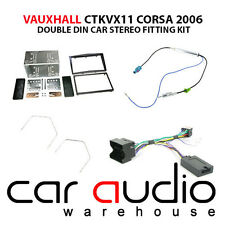 Vauxhall Corsa D 2006 Car Stereo Double Din Fascia & Steering Wheel Kit CTKVX11