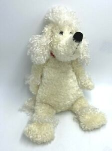 Jellycat White Cream French Poodle Medium Bunglie Plush Red Collar 16""