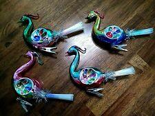 Chris Radko Shiny Brite Reflector Birdclips Glass Christmas Confetti Ornaments