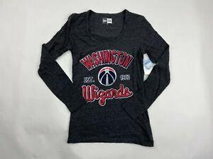 New Era Womens NBA Washington Wizards Long Sleeve S M L XL Grey