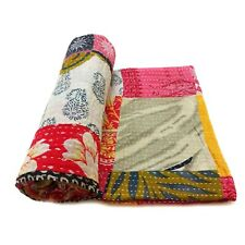 patchwork Kantha Quilt Handmade  Cotton Couch Cover Blanket Bedding Throw  PA09