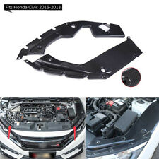Fit Honda Civic 2016-2018 10TH Carbon Fiber Style Engine Side Panel Bay Cover