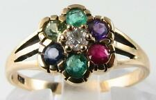 CLASSIC  VICTORIAN 9K GOLD  MULTISTONE DEAREST RING""