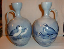 Pair of Cauldon Donald Birkbeck Handpainted Bird vases