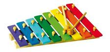 Xilofono colorato in legno, 2 bacchette, 8 piastre, 8 note, cm 31x23x5