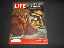 1955 DEC 12 LIFE MAGAZINE - NEANDERTHAL BEAR CULT -BEAUTIFUL FRONT COVER- GG 828