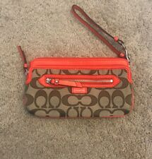 Coach Wallet Womens Orange And Brown