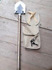 Hochwertige Multifunktions Schaufel aus Carbonstahl mit Tasche Camping Army BW