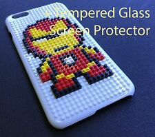 WHITE LEGO TOY BLOCKS HARD PLASTIC SKIN CASE COVER APPLE IPHONE 7 - IRON MAN