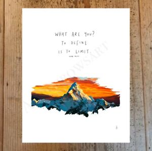 What Are You By Oscar Wilde Poem Quote Everest Drawing Art Print Poster A4