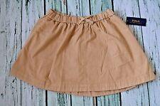 New Polo Ralph Lauren Girl's sz 16 XL Cotton Chino Beige khaki skirt uniform $39