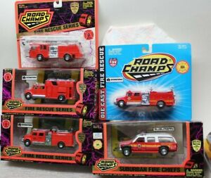 ROAD CHAMPS - FIRE RESCUE SERIES - 1/64, FIRE CHIEF in 1/43 Scale - 5 SELECTIONS