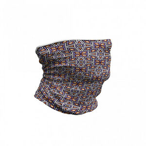 Ambesonne Geometric Themed Neck Gaiter Printed Fabric Face Guard for Protection