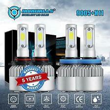 4PC Hi/LO Car Bulbs LED Headlight Fog Light 9005+H11 For GMC Sierra 1500 2500 HD