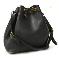 Auth LOUIS VUITTON Epi Petit Noe M44102 Shoulder Bag Black Leather