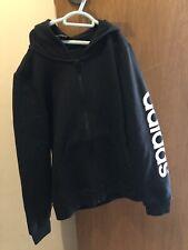 BRAND NEW Boys Black Adidas Yg E Lin Fz Zip Up Jacket Size 10/11