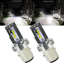 2Pcs Headlight Bulb LED Motorcycle BA20D 12V-60V 1860 CSP LED Hi/Lo Light Lamps