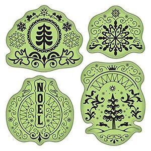Inkadinkado Stamping Gear Cling Stamps, Folk Winter Scrapbooking Stamp Set Snow