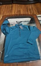 NIKE MEN'S THERMA FIT 1/4 Zip PULLOVER SWEATSHIRT SZ L 800185 346 DARK TEAL