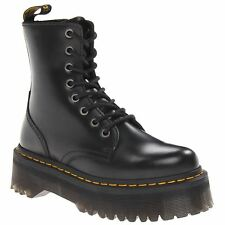 Dr.Martens Jadon Black Womens Leather Mid-calf 8-eye Boots