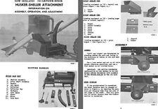 New Holland 350 Grinder-Mixer Husker-Sheller Attachment Info on Assembly, Operat