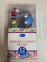 Polyresin SHOWER Curtain HOOKS 12 Pack Sea Creatures