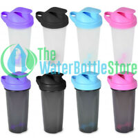 16oz Protein Shaker Water Bottle BpA Free Plastic Blender Mixer Gym Container