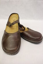 THOM MCAN Brown Leather Mary Jane Mules, Womens Size 7.5