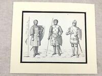 Militare Stampa Medievale Inglese Cavaliere Suit Di Armatura Battle Abito Catena