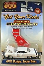 Route 66 1970 DODGE SUPER BEE California/Magnet Die-Cast Collectible 1/64 Scale