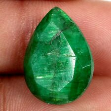 Fantastic 15.50 GREEN CORUNDUM DYED Faceted Loose Gemstone 18x14 mm ebay India