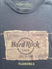 Brown rustic hard rock cafe florence Italy  shirt classic large