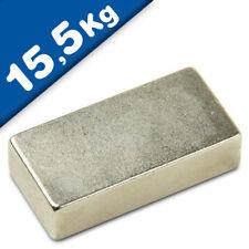 DY7100008 6 x Neodym Magnet Super Powermagnete Haftkraft 4,0 kg Quadermagnet