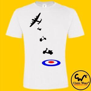 MODS T shirt SCOOTER tee BOMBER TARGET RAF t-shirt bikes MOD retro vintage Mens
