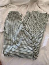 brandy melville green/white plaid wide leg loose fit Valentina pants sz S New!