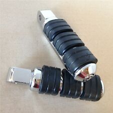 M.Chromed Aluminum Rubber Front FootPeg For Yamaha Road Star Warrior 2002-2009