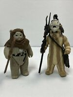 Vintage (Loose, 100% Complete) 1983 Kenner Star Wars CHIEF CHIRPA & LOGRAY Lot