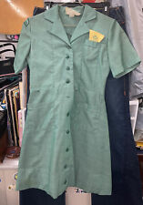 Vintage Girl Scout Leader Teenage Sz 12 Uniform Dress With Bow