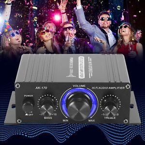 400W Power Digital Amplifier HIFI Mini Stereo Audio AMP USB FM Mic Home Car
