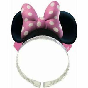 Minnie Mouse Party Headband Paper Foil Glitter Pkt 8 Disney Costume Accessory