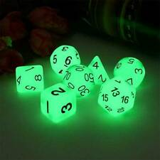 7x Luminous Polyhedral Dice Set For TRPG MTG Dungeons&Dragons DND Table Game New