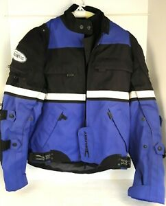 Joe Rocket Ballistic Touring Jacket Mesh Padded Mens Sz XS Blue Black Motorcycle
