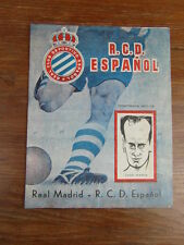 Programme FOOTBALL FUTBOL 1971-1972 ESPANOL BARCELONA vs REAL MADRID