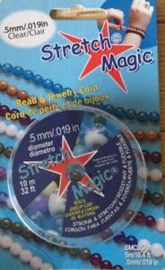 Stretch Magic Elastic Beading Cord )_ Clear  0.5mm,  10 meters Jewellery Making