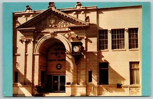 Ruston Louisiana~Cavernous Doorway~Beaux Arts State Bank & Trust~1950s Postcard