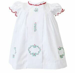 NWT Boutique The Proper Peony Girls Noelle Christmas Dress White Size 5 y / 6y