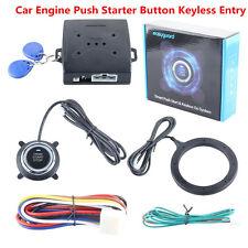 Car Engine Push Starter Button Keyless Entry Start Stop Immobilizer RFID Alarm