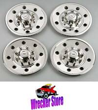"Set of 4 - 16"" WHEEL w/ 8 LUGS, STAINLESS STEEL WHEEL COVER, HUB CAP for TRAILER"